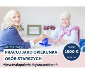 Niemcy, opieka nas Seniorką 1700 EURO za zlecenie