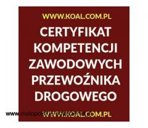 Kurs Katowice Certyfikat Kompetencji Zawodowych CPC, październik 2020