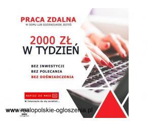 Praca Stała lub Dodatkowa | Bez Doświadczenia | 2500 ZŁ