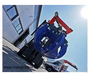 Chwytak recyklingowy łyżka recyklingowa na wózek widłowy