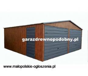 Garaż Blaszany Drewnopodobny 6x5