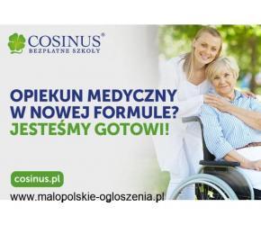 Zawód Opiekun Medyczny z nową kwalifikacją - BEZPŁATNIE w Cosinus
