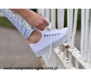 Białe trampki Creepersy do kupienia online na Pantofelek24