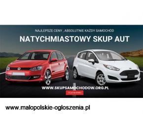 Natychmiastowo KUPIMY TWOJE AUTO - PRZYJEŻDŻAMY Z GOTÓWKĄ ,skup samochodów osobowych i dostawczych