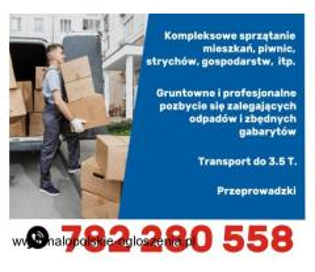 Sprzątanie piwnic, Wywóz, Opróżnianie strychów, Garaży, Transport,