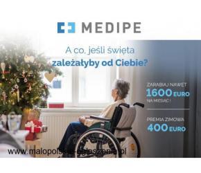 Opieka Niemcy 1530 EURO + DO 400 EURO PREMII ŚWIĄTECZNEJ